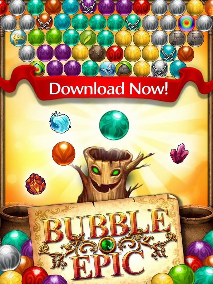 Bubble Epic App. Elimination Puzzle game apps.