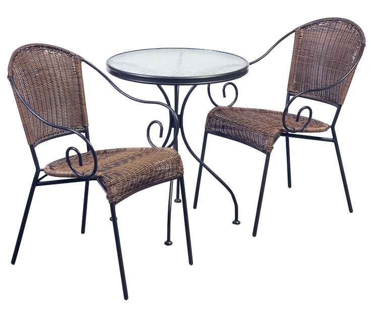 With Its Magnificent Wrought Iron Detailing, Multi Toned Round Wicker And  Clear Rippled Tempered Glass · Outdoor Dining FurnitureOutdoor ...