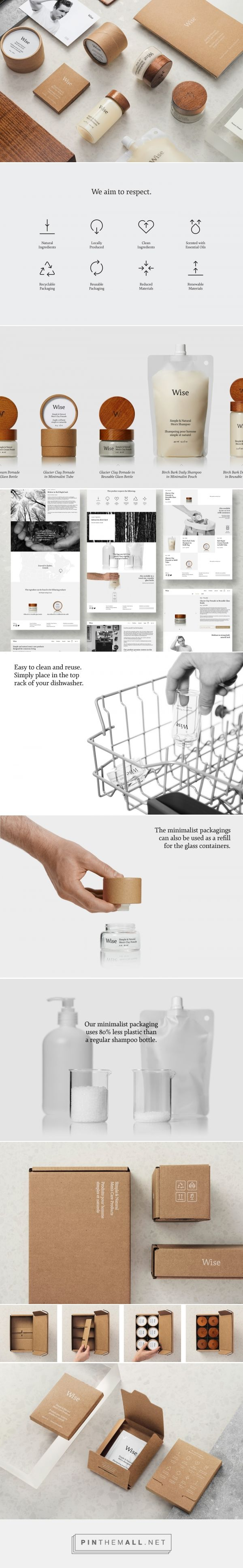 Using 80% less plastic - Wise Men´s Care packaging design by Ethos - http://www.packagingoftheworld.com/2017/10/wise-mens-care.html