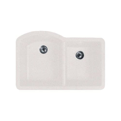 Swanstone Qudb-3322 32 Double Basin Undermount Granite Kitchen Sink (granito)