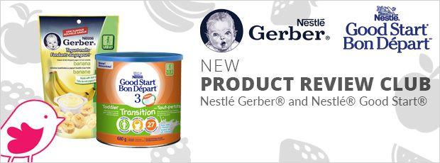 New Product Review Club Offer:  NESTLÉ GERBER Yogurt Melts® and NESTLÉ GOOD START 3 Toddler Transition