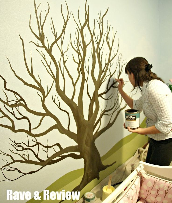 35 stunning and beautiful tree paintings for your inspiration forest friends wall murals and rave - Wall Paintings For Bedroom