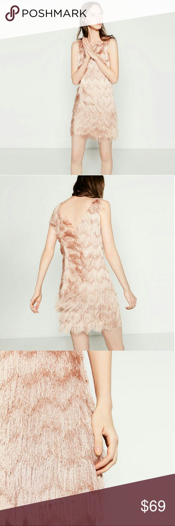 Clearout 2days only! Zara dress( Price is firm ) Super cute. Pale rose pink. Brand new  Reduced from $69. No offers. Zara Dresses