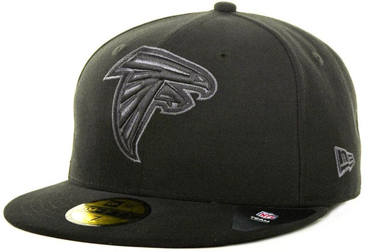 New Era Atlanta Falcons Black Gray 59FIFTY Cap