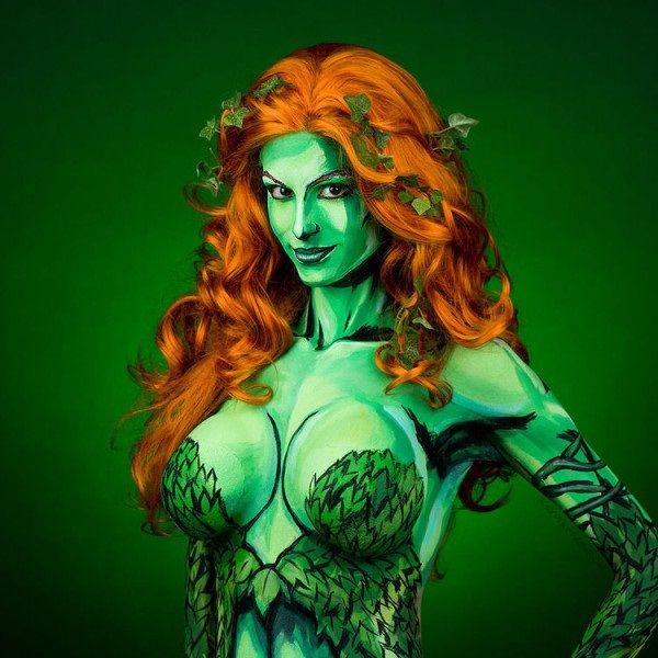 Galaxy Fantasy: Maquillaje: Kay Pike se transforma magistralmente en Hiedra Venenosa