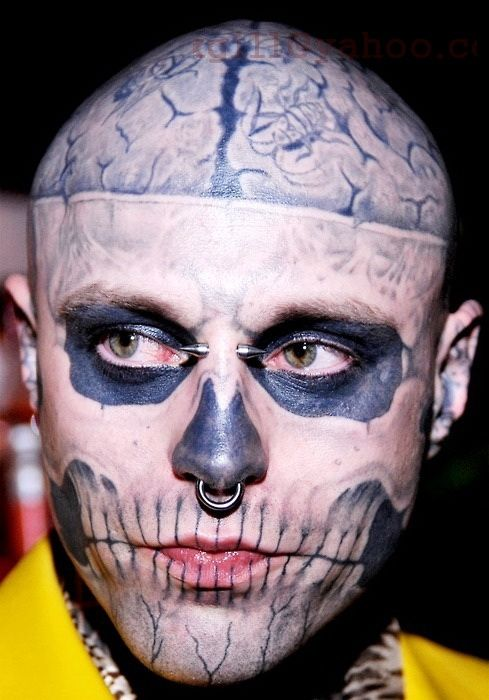 Best 25 skull face tattoo ideas on pinterest halloween for Face tattoo makeup