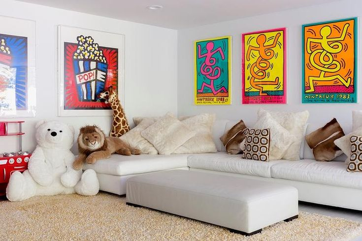 The Comfortable Cream Long Couch For Kids Room: 25+ Best Ideas About Kids Tv Rooms On Pinterest