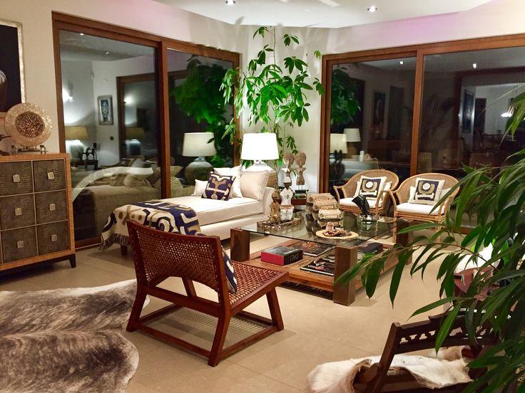 "Ethnic Chic Living room ""Casa Yemayá"" VyP, Chile"