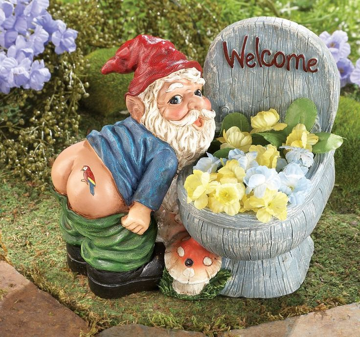 Amazon.com : Motion Sensored Farting Gnome Planter By Collections Etc :  Patio, Lawn