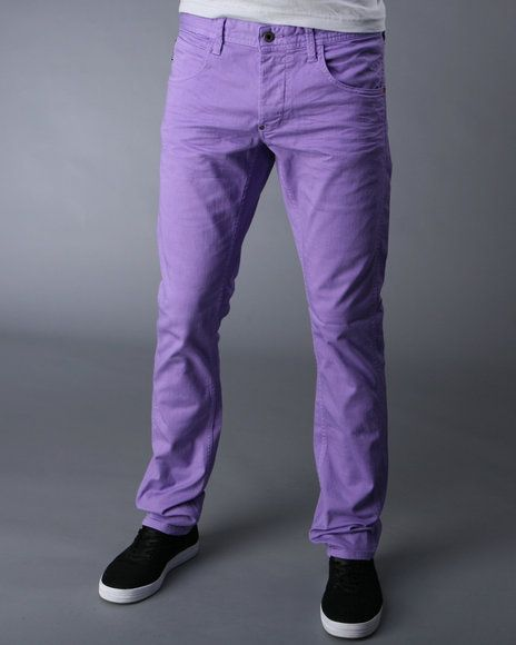 Who Says Gents Can T Wear Purple Skinnies Wearables Jeans