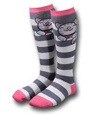 Big Bang Theory Striped Soft Kitty Women's Socks