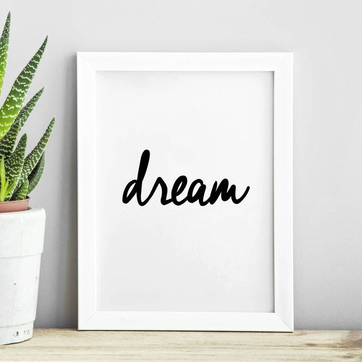 Dream http://www.notonthehighstreet.com/themotivatedtype/product/dream-inspirational-typography-print Limited edition, order now!