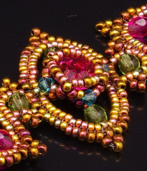 Beadweaving Tutorial  Bollywood Bracelet Pendant and by NEDbeads