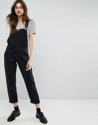 618fc16f65e59 DESIGN denim overall in washed black | Fashion and Styling | Denim ...