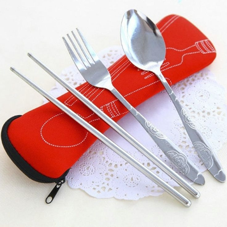 3Pcs/set Cute Fork Spoon Chopsticks Stainless Steel Tableware Cutlery Portable Camping Bag Picnic Lunch Box for Kids with Bags #>=#>=#>=#>=#> Click on the pin to check out discount price, color, size, shipping, etc. Save and like it!