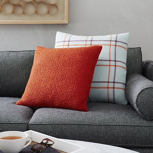 West Elm Throw Pillow Inserts : Faribault City Grid Plaid Wool Pillow Cover west elm A Tibbetts House ideas Pinterest ...