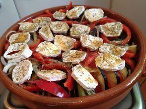 tian de légumes au chèvre et au miel - Recette de cuisine Marmiton : une recette