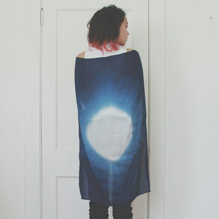 Eclipse shibori scarf