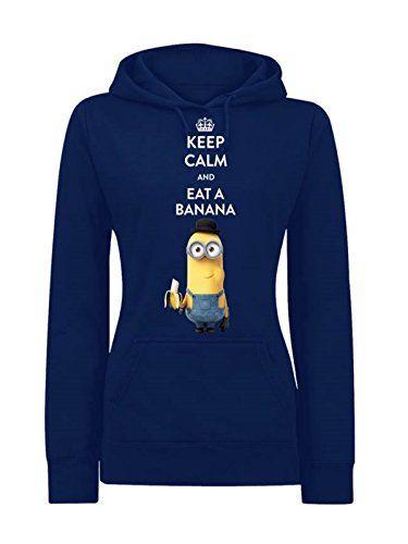Minions Keep Calm And Eat A Banana Felpa donna blu XS Minions http://www.amazon.it/dp/B010SVLFD6/ref=cm_sw_r_pi_dp_gHI4vb013XVPP