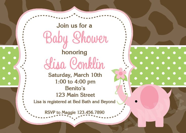 10 best Impressive Elephant Baby Shower Invitations Cartoon images - free online baby shower invitation templates