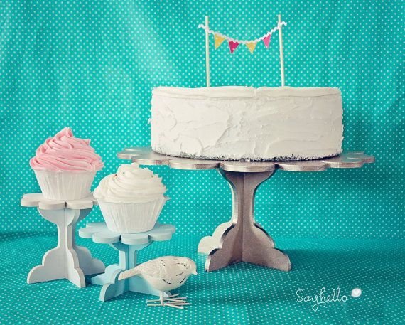 DIY Cupcake Stand Kit. Set of 2. Paint your own by sayhelloshop, $12.50
