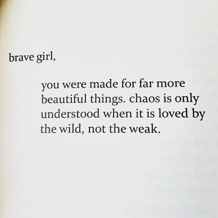 brave girl...