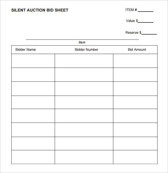 25+ unique Auction bid ideas on Pinterest Silent auction bid - sample silent auction bid sheet