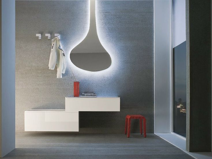 Wall-mounted sectional lacquered hallway unit LOGIKA | Wall-mounted hallway unit - Birex