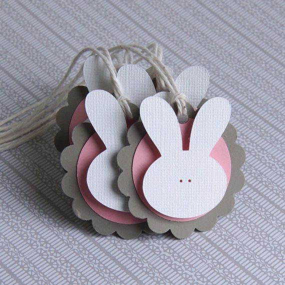 6 Easter Bunny Tags Easter Gift Tags Bunny Tags .  2 by scrapbits