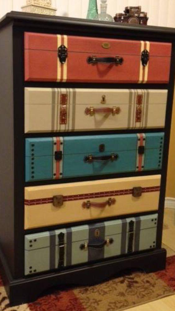 Upcycled Suitcase Storage