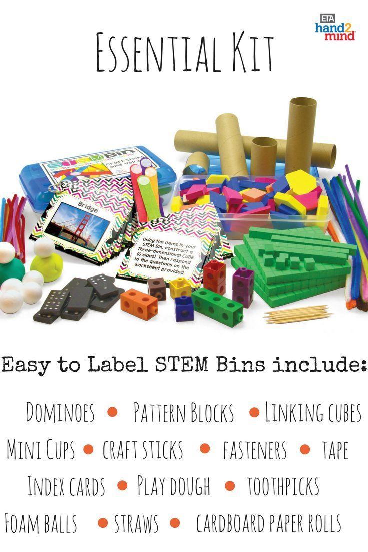 Stem Bins Essential Kit Stem Centers Pinterest Science