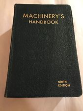 Machinery's Handbook 9th Edition 1937 by Erik Oberg & F D Jones