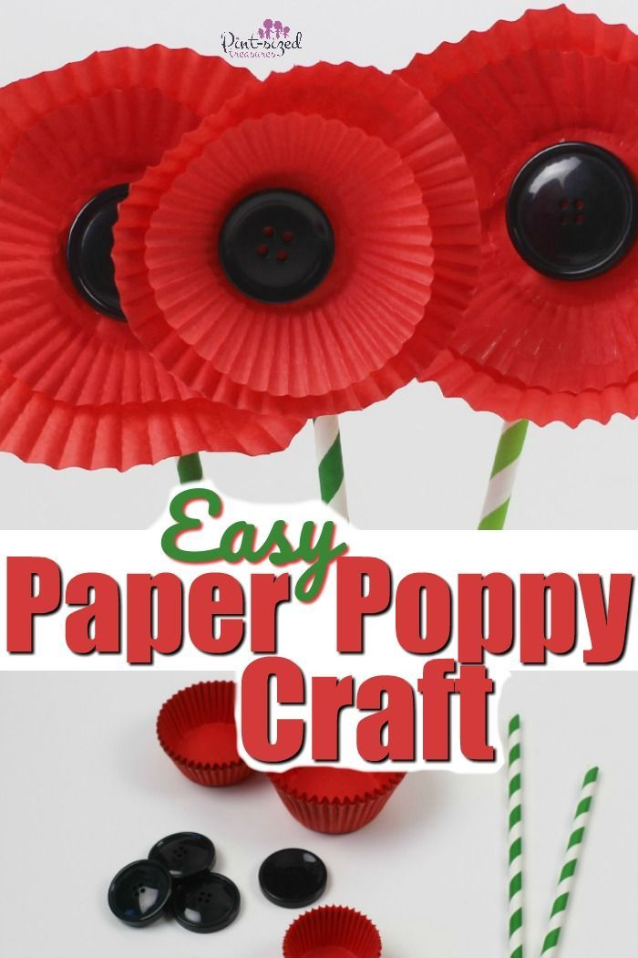 Easy Paper Poppy Craft Crafts For Kids Pinterest Crafts Poppy