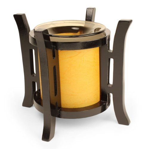 "Lantern Style Electric Tart/Oil Warmer by OBI. $21.95. Product Dimensions: 7"" x 4 x 4 inches. Made of High Quality Ceramic. Adjustable heat level. Use for warming oil or wax. Electric with easy on/off swtich on cord. ELECTRIC TART/OIL WARMERS This unique electric fragrance lamp is designed to fill the area with a refreshing aromatic scent. Unlike candle based oil warmers, you are in control. Use the dimmer to adjust the halogen light to warm the oil a little or a lot,..."