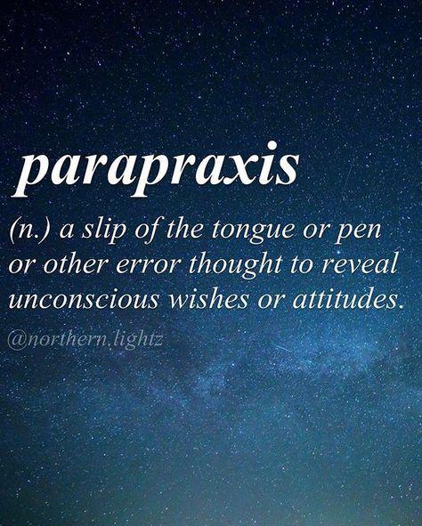 Parapraxis~ Greek origin