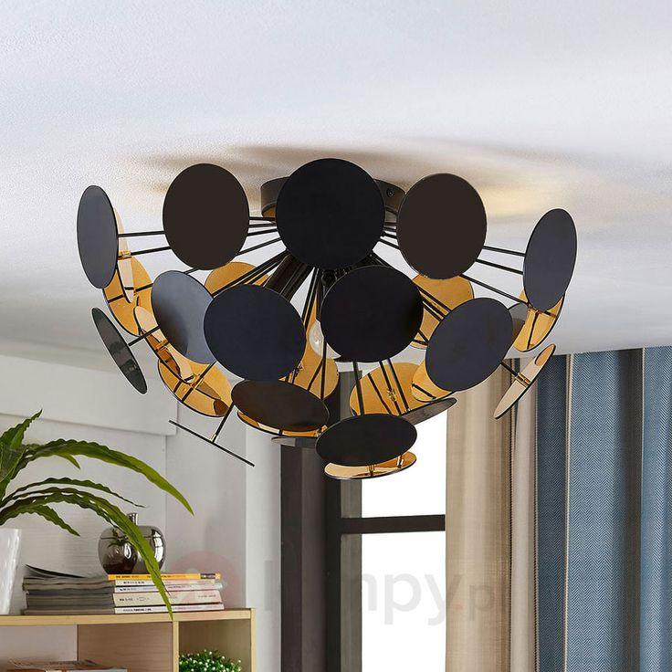 Lampa sufitowa Kinan w czarno-złotym kolorze 9621167