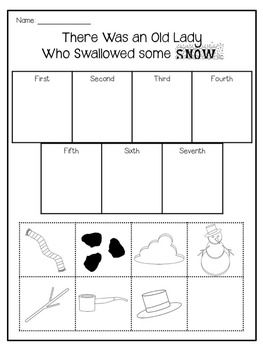 There Was an Old Lady Who Swallowed some Snow Sequencing