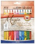 <b>MULTICOLORE</b> - SET 12 Creioane TRIUNGHIULARE cu Mina Multicolora + blender