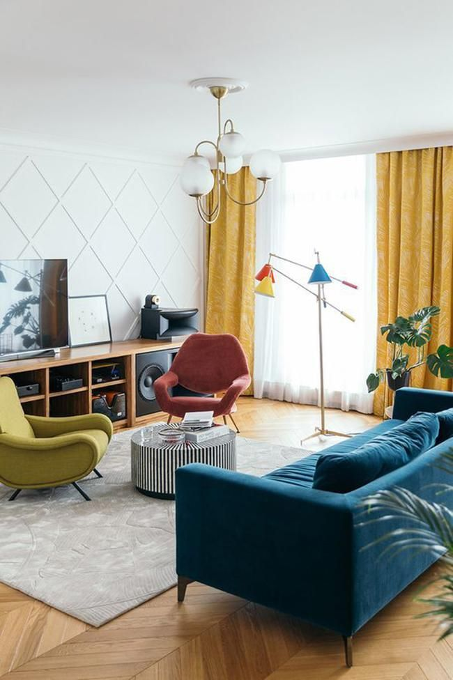 14 Of The Most Beautiful Living Rooms On Pinterest Pinterest Living Room Rugs In Living Room Blue And Yellow Living Room