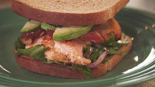 Pati's Salmon,Bacon,Avocado Sandwich - Use recipe for just Salmon