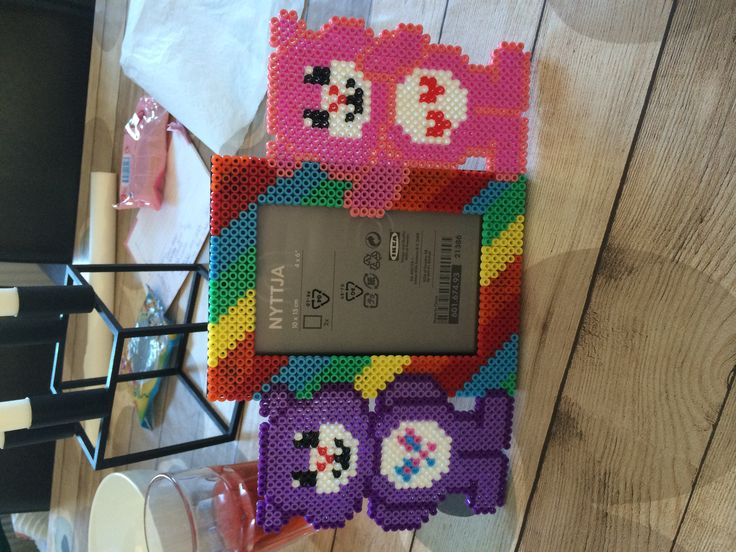 Care Bears photo frame hama beads by Louise