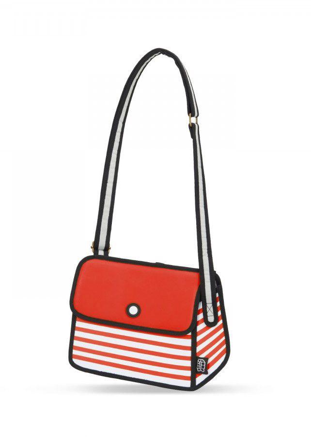 Red Stripe Shoulder Bag