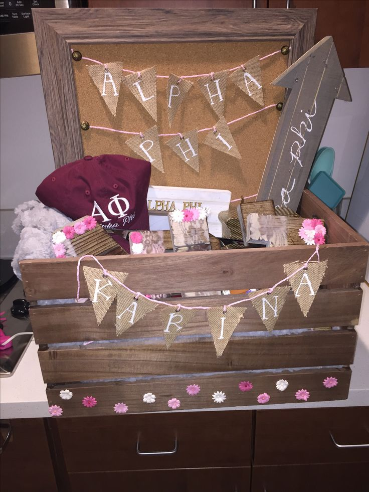 alpha phi sorority big/little basket
