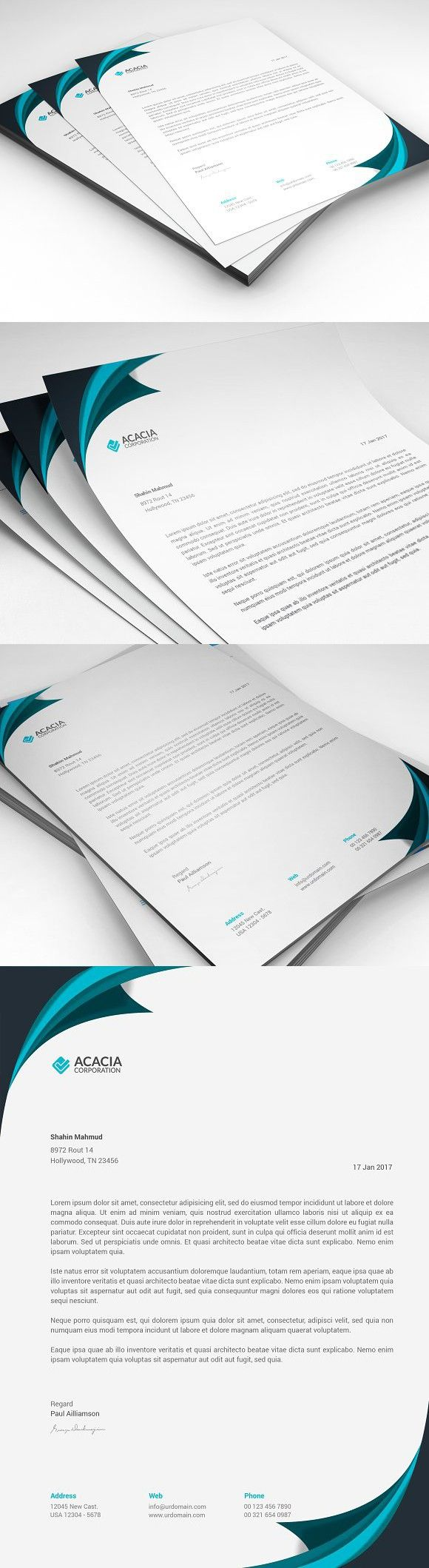 Creative Business Card. Stationery Templates