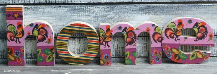 letters 3D_HOME_folk