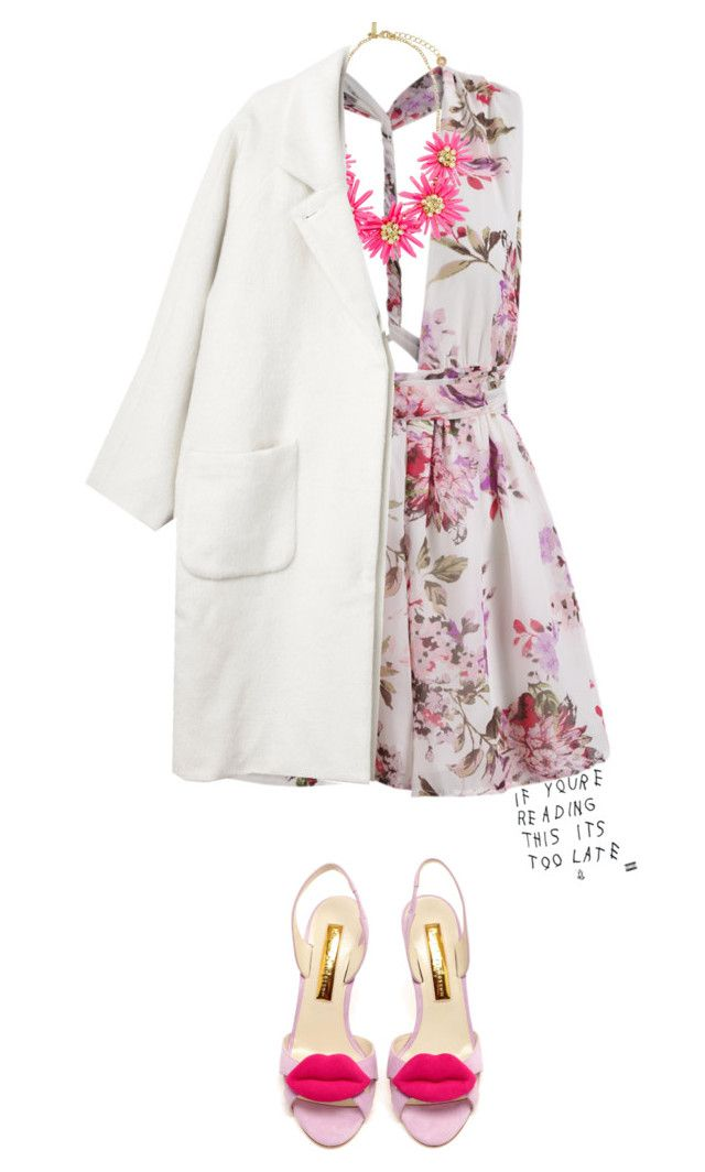 """""""before i turn the lights off, tell me..."""" by avnincetoria ❤ liked on Polyvore featuring Monki and Rupert Sanderson"""