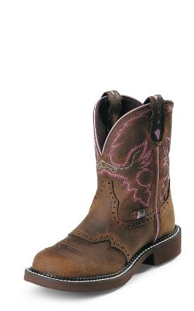 Justin Boots #L9903 AGED BARK  I have these they are my go to for everything riding boots I like that they just have a hint of pink and are very comfortable! If I was in a show I would wear something fancier but other than that great for everything!