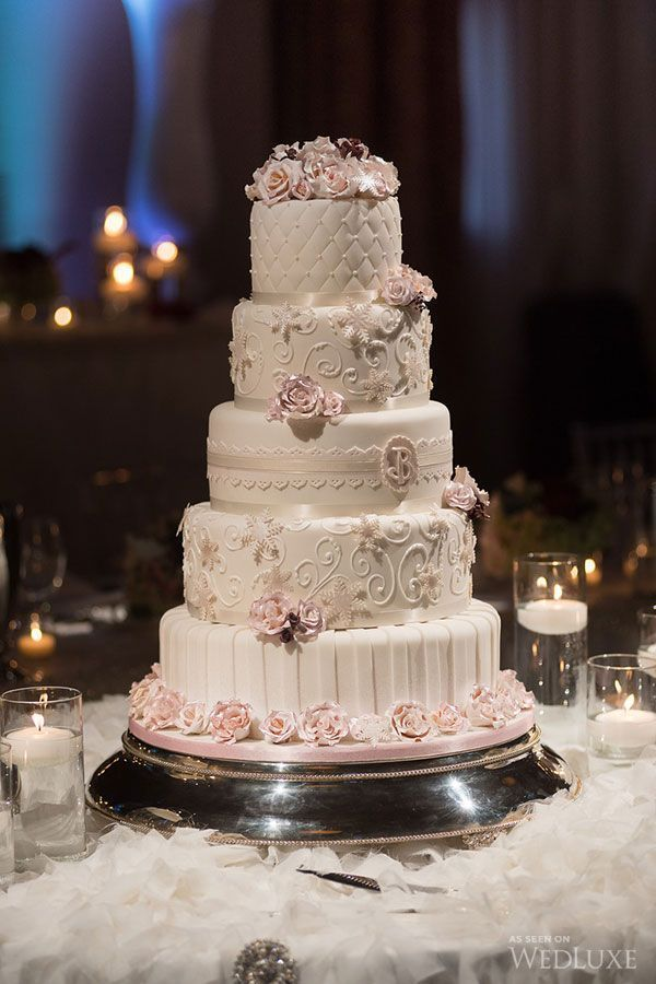 Stunning 5 Tier Wedding Cake By Cakes By Design Canada