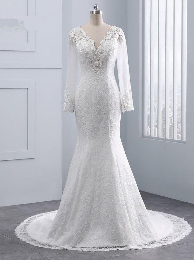 Vintage Wedding Dresses Lace Wedding Dress With Sleeves 11685 Lace Wedding Dresses Uk Backless Bridal Gowns Lace Wedding Dress Vintage