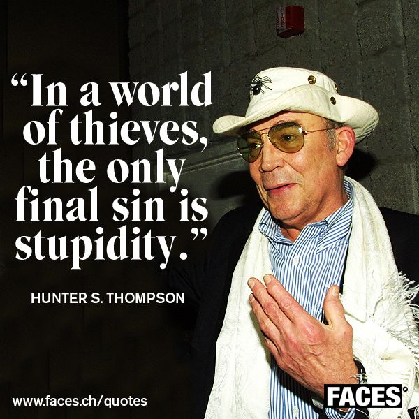 Hunter S Thompson Music Quote: 225 Best Images About FACES Quotes On Pinterest